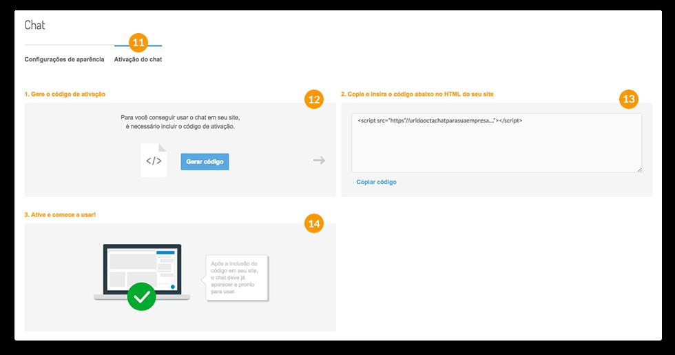 Chat para site - código de instalação