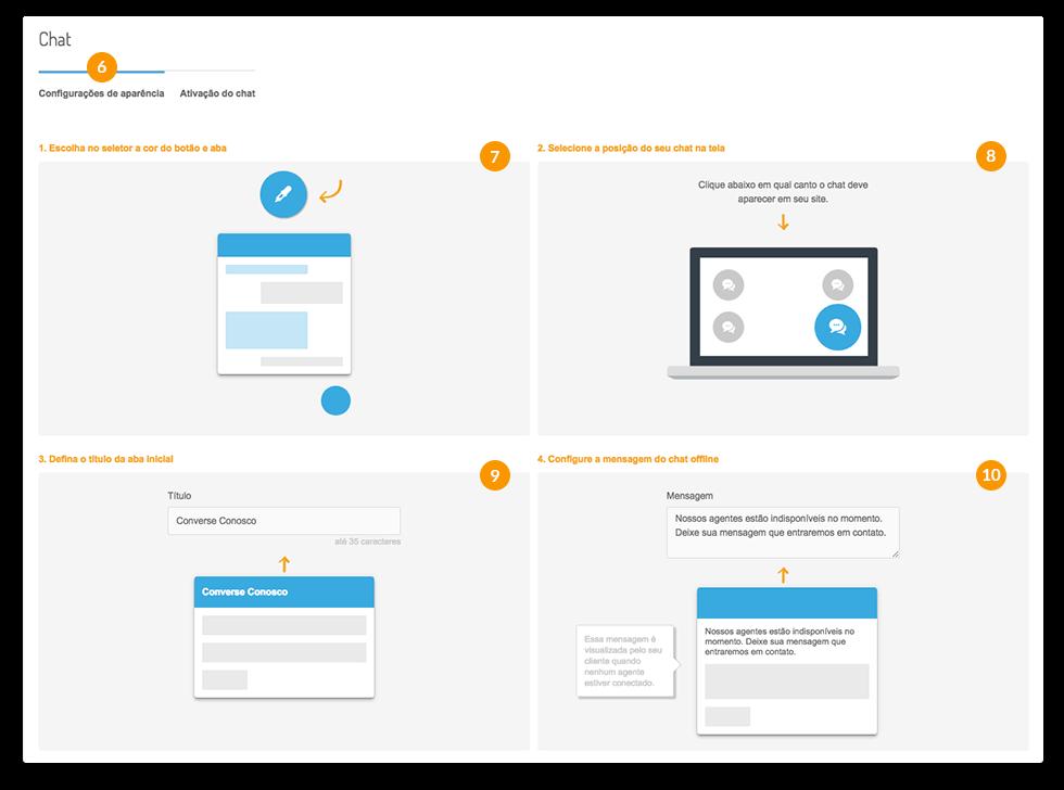 chat para site - Setup