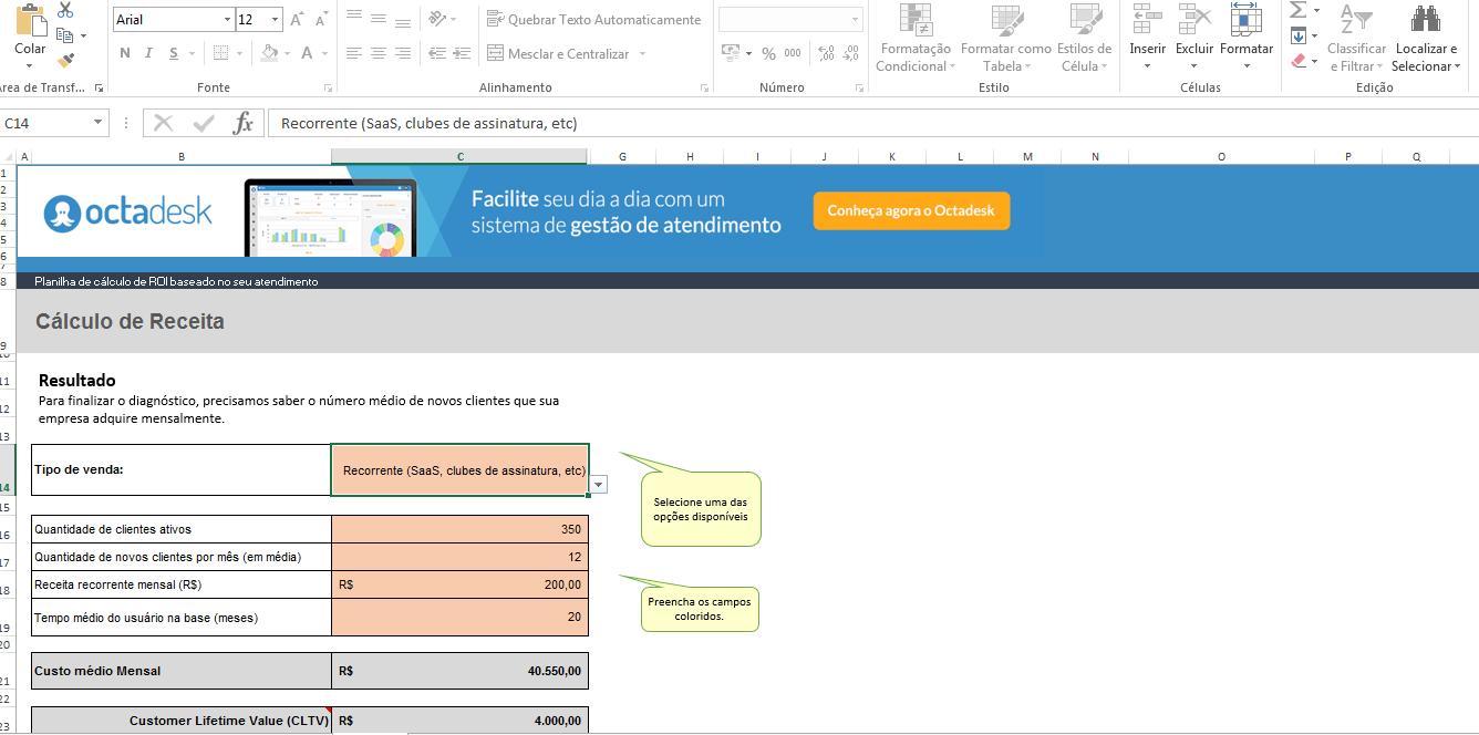 Calculadora de Roi - Como calcular o retorno sobre investimento - passo 3